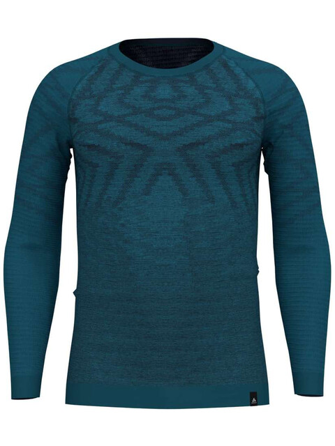 Odlo Suw Natural + Kinship LS Top Crew Neck Men blue coral melange